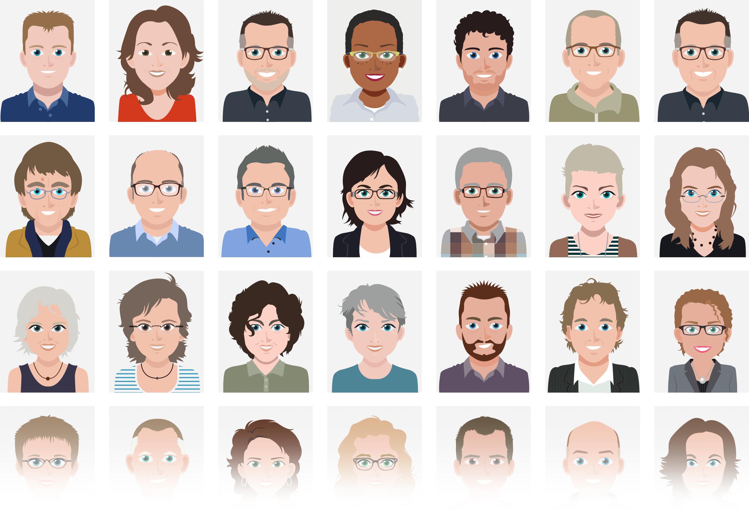 corporate-avatars-team-employee-illustrations